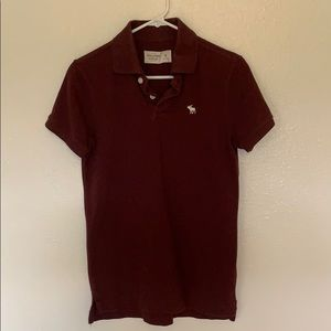 Abercrombie & Fitch Burgundy Polo